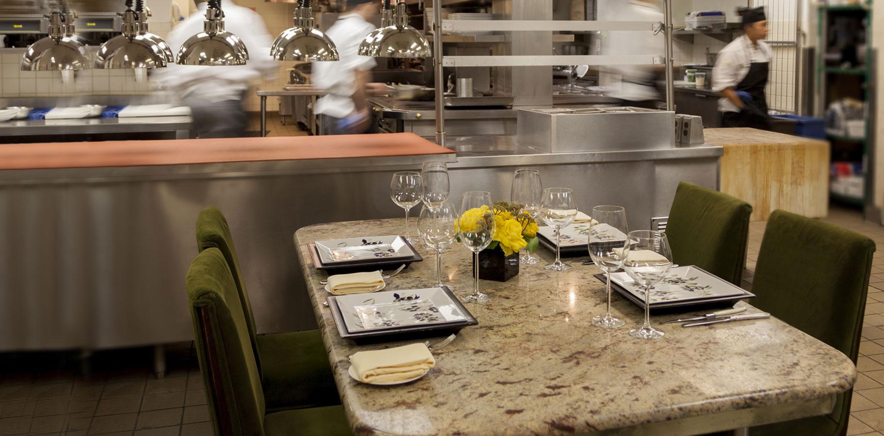 Restaurant Kitchen Table chef's table in philadelphia